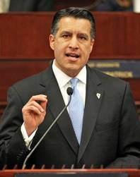 Nevada Gov. Brian Sandoval delivers the State of the State address at the Legislature in Carson City on Wednesday, Jan. 16, 2013.