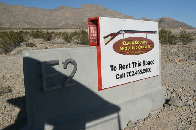 "A new sporting clay course opens at the Clark County Shooting Complex, 11357 N. Decatur Road, on Friday Jan. 18, 2013. The new course takes shooters to 30 target shooting stations across 75 acres of desert in a sport also known as ""golfing with guns."""