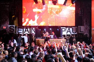 Sean Paul hosts and performs at Tao in The Venetian on Friday, Jan. 18, 2013.