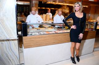 Alexis Bellino celebrates her 36th birthday at Andrea's in the Encore on Saturday, Jan. 19, 2013.