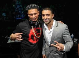 DJ Pauly D, with singer Jay Sean, kicks off his residency at Haze in Aria on Saturday, Jan. 19, 2013.
