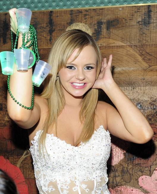Adult-film actress Bree Olson parties at The Act Nightclub in ...