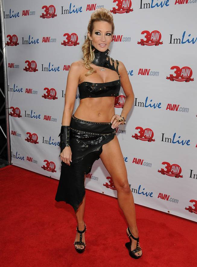 Jessica Drake arrives at the 2013 AVN Awards red carpet at The Joint in the Hard Rock Hotel on Saturday, Jan. 19, 2013.