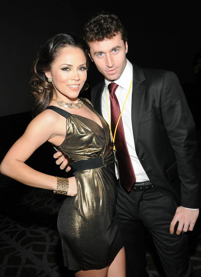 Kristina Rose and James Deen arrive at the 2013 AVN Awards red carpet at The Joint in the Hard Rock Hotel on Saturday, Jan. 19, 2013.