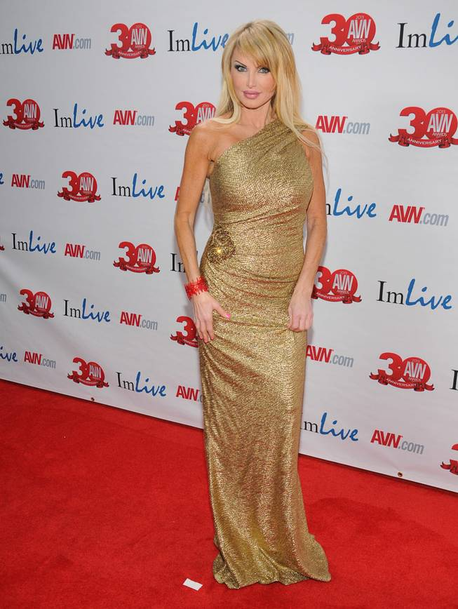 Taylor Wane arrives at the 2013 AVN Awards red carpet at The Joint in the Hard Rock Hotel on Saturday, Jan. 19, 2013.