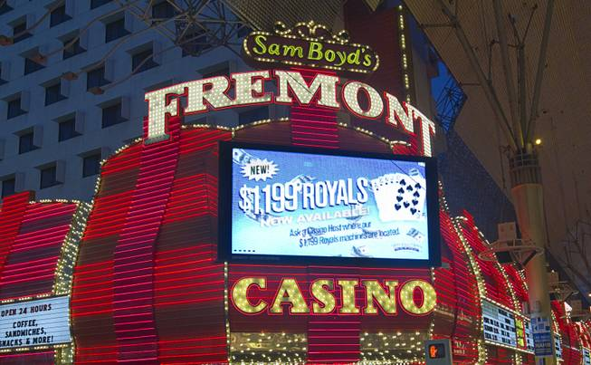 An exterior view of the Fremont casino in downtown Las Vegas, Sunday, Jan. 20, 2013.