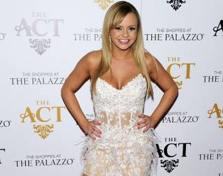 Adult-film actress Bree Olson arrives for a night at The Act Nightclub in the Palazzo on Friday, Jan. 18, 2013.