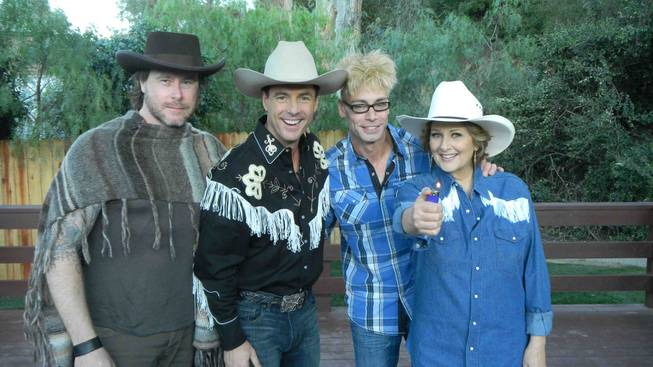 "Dean McDermott, Mark Steines, Murray Sawchuck and Cristina Ferrare on Hallmark's ""Home & Family."""