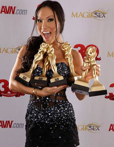 Asa Akira at the 2013 AVN Awards at the Hard Rock Hotel on Saturday, Jan. 19, 2013.