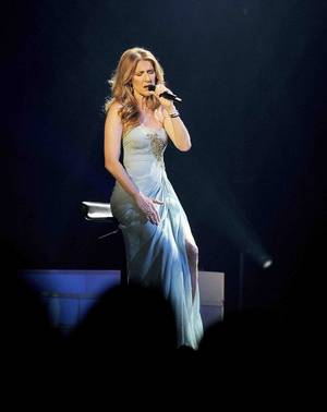 Celine Dion performs a benefit for the Cystic Fibrosis Foundation at The Colosseum in Caesars Palace on Sunday, Jan. 20, 2013.