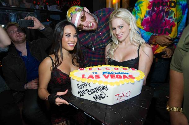 Mac Miller celebrates his 21st birthday at Tao in The Venetian.