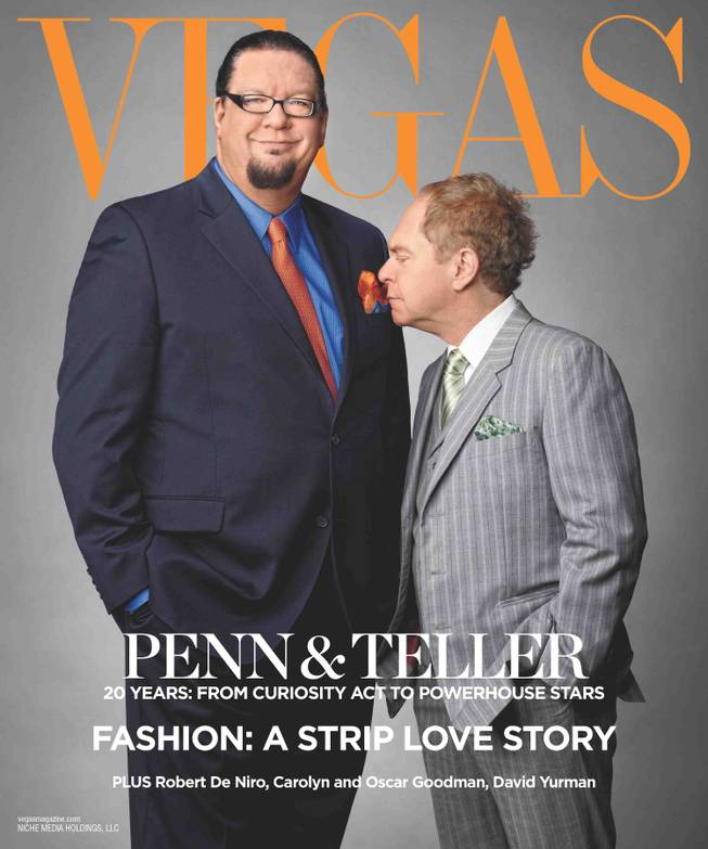 Penn & Teller on the cover of Vegas Magazine.