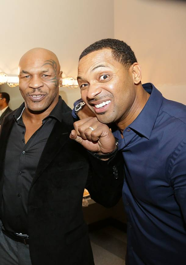 Mike Tyson and Mike Epps backstage at the Pearl at the Palms on Saturday, Jan. 19, 2013.