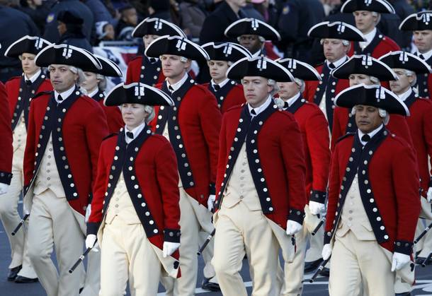 The Army's Old Guard Fife and Drum Corps march in President Barack Obama's inaugural parade in Washington, Monday,Jan. 21, 2013, following the president's ceremonial swearing-in ceremony during the 57th Presidential Inauguration.