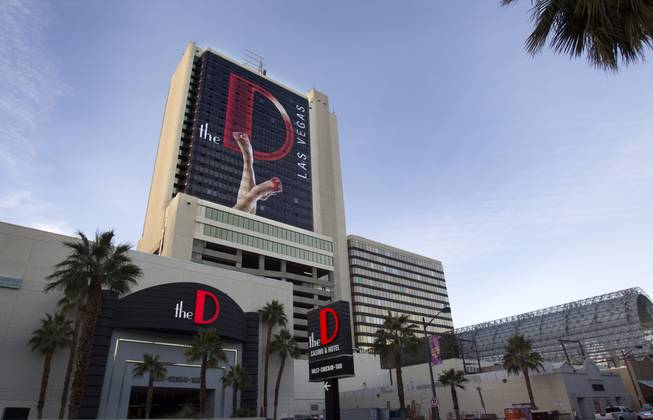 The exterior of the D Las Vegas hotel-casino in downtown Las Vegas Tuesday, Jan. 22, 2013.