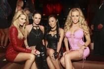 Wicked Girls Jessica Drake, Alektra Blue, Kaylani Lei and Samantha Saint at Tao in The Venetian on Thursday, Jan. 17, 2013.
