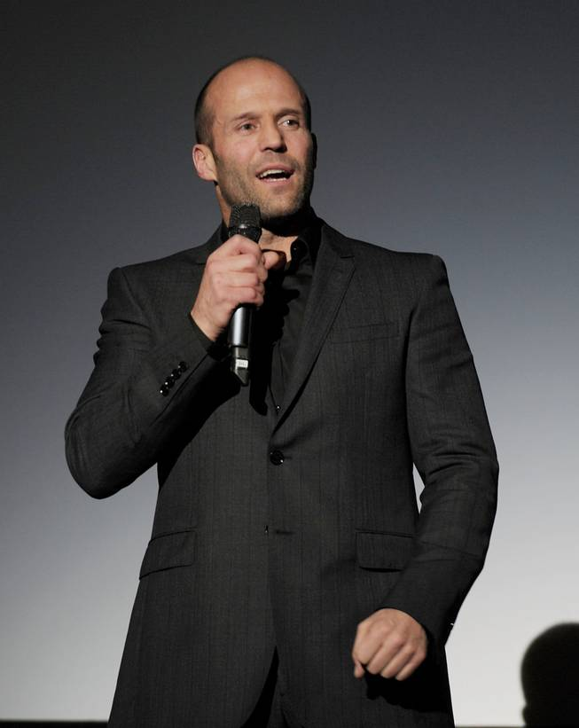 "Jason Statham at the premiere of his film ""Parker"" at Planet Hollywood on Thursday, Jan. 24, 2013."