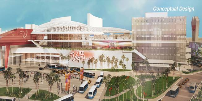 A rendering of an upgraded Las Vegas Convention Center.