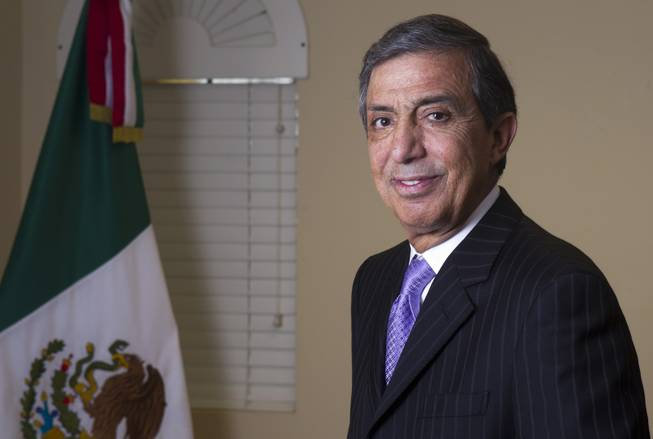 Mariano Lemus Gas, Mexican consul in Las Vegas, poses in his office at the Mexican Consulate at Hoover Avenue and Sixth Street Thursday, Jan. 24, 2013. Lemus Gas is leaving after eight years in Las Vegas. STEVE MARCUS