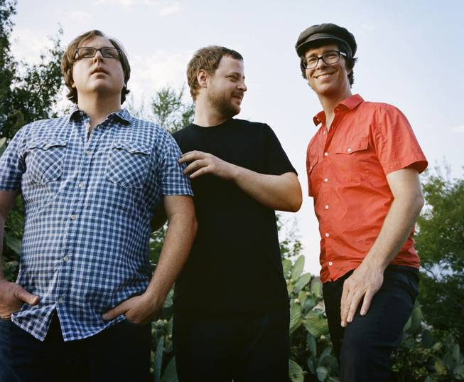"This publicity image released by Sony shows members of Ben Folds Five, from left, Robert Sledge, Darren Jessee and Ben Folds. The band's latest album, ""The Sound Of The Life Of The Mind,"" was released on Tuesday, Sept. 18, 2012."