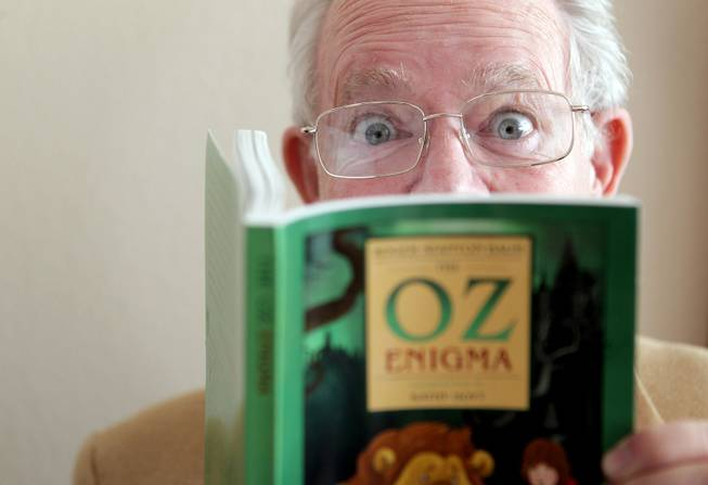 "Author Roger Baum, seen Friday, Jan. 25, 2013, is the great-grandson of L. Frank Baum, the creator of the ""Oz"" series."
