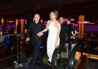 Casper Smart and  Jennifer Lopez arrive at the premiere of her film