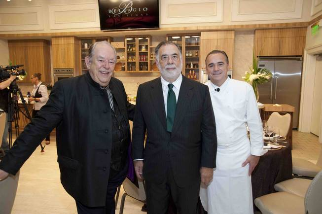 Journalist Robin Leach, filmmaker and winemaker Francis Ford Coppola and ...