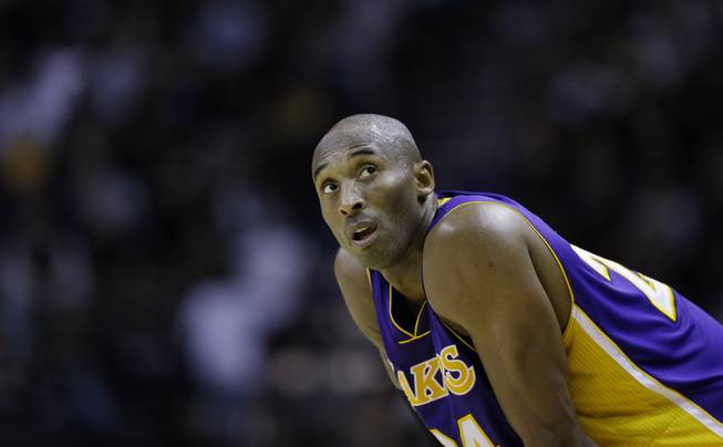 Los Angeles Lakers star Kobe Bryant is featured in a Super Bowl prop bet at the LVH. Gamblers can wager if his point total Sunday against the Detroit Pistons will be more than the San Francisco 49ers score against the Baltimore Ravens in the Super Bowl. Bryant is a -4 point favorite.