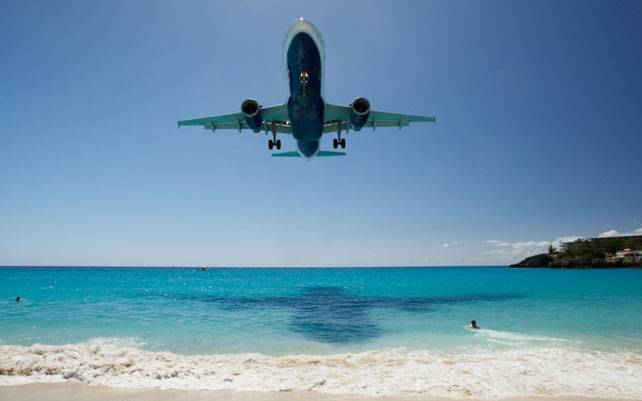 St Maarten Princess Juliana International Airport, Caribbean.
