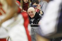 Former UNLV head coach Jerry Tarkanian watches as the Runnin' Rebels take on UNR Tuesday, Jan. 29, 2013 at the Thomas & Mack. UNLV won ...