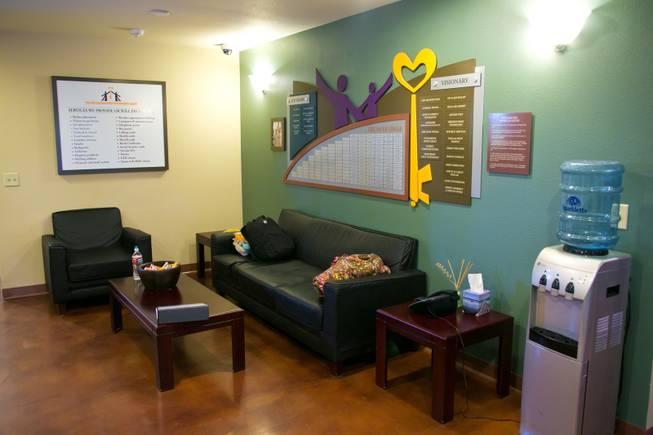 A look at the lobby of the William Fry Drop In Center, a center where homeless youth can come to seek assistance, Tuesday Jan. 29, 2013.