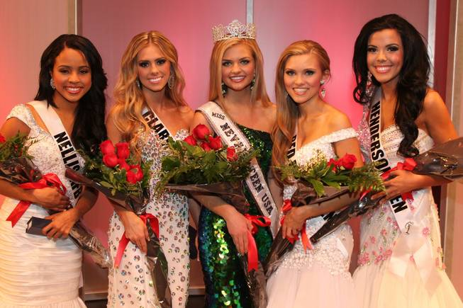 2013 Miss Nevada Teen USA Pageant contestants at UNLV on Sunday, Jan. 27, 2013. Winner Amanda Jackson of Sparks is at center.