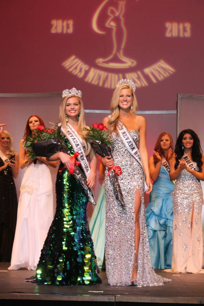 2013 Miss Nevada Teen USA Amanda Jackson and 2013 Miss Nevada USA Chelsea Caswell at UNLV on Sunday, Jan. 27, 2013.