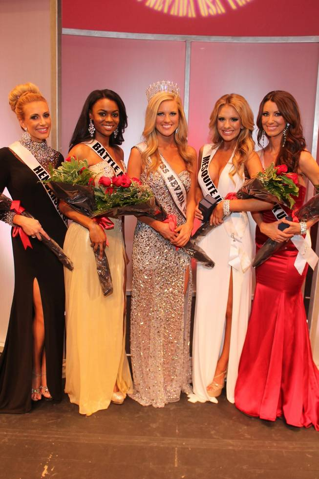 The 2013 Miss Nevada USA Pageant at UNLV on Sunday, Jan. 27, 2013. Winner Chelsea Caswell of Las Vegas is at center.