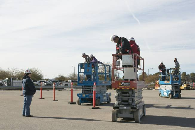 Students are recieving training on lifters at the United Brotherhood of Carpenters' International Training Center, Tuesday. Jan. 29, 2013.