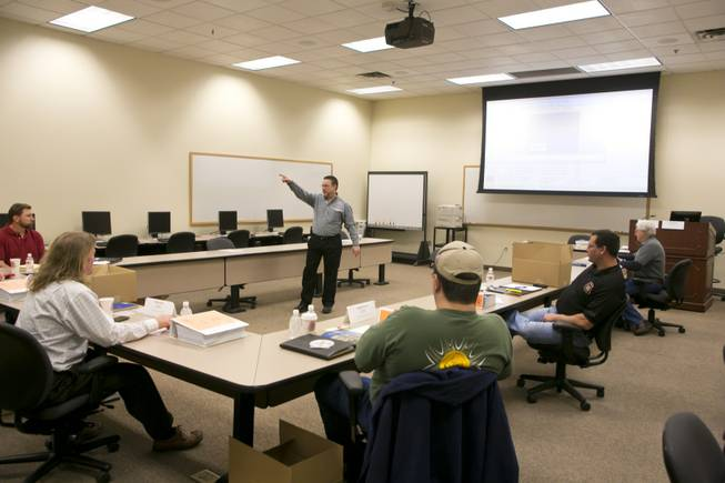 A look at one of the instruction rooms at the United Brotherhood of Carpenters' International Training Center, Tuesday. Jan. 29, 2013.