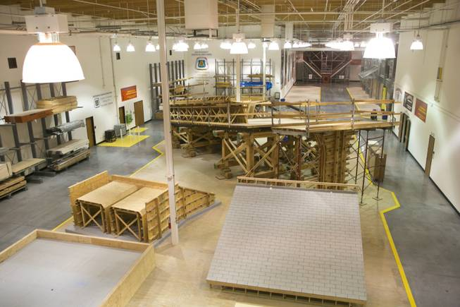 A look at the training facility at the United Brotherhood of Carpenters' International Training Center, Tuesday. Jan. 29, 2013.