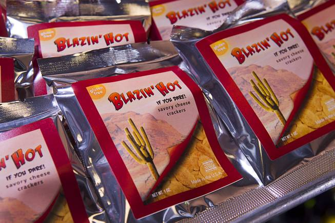 Packages of gluten-free crackers are displayed at Jadon Foods, 4343 N. Rancho Drive, Wednesday, Jan. 30, 2013. Jadon Foods is a gluten-free bakery that also specializes in diabetic-friendly and dairy-free baked goods.