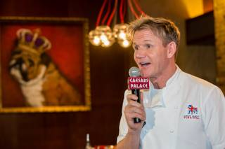Gordon Ramsay hosts Sunday brunch at Gordon Ramsay Pub & Grill in Caesars Palace on Sunday, Jan. 27, 2013.