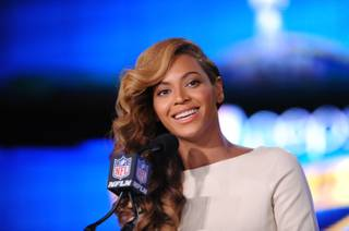 Beyonce meets the media -- and sings the national anthem -- in New Orleans on Thursday, Jan. 31, 2013, ahead of Super Bowl XLVII on Sunday.