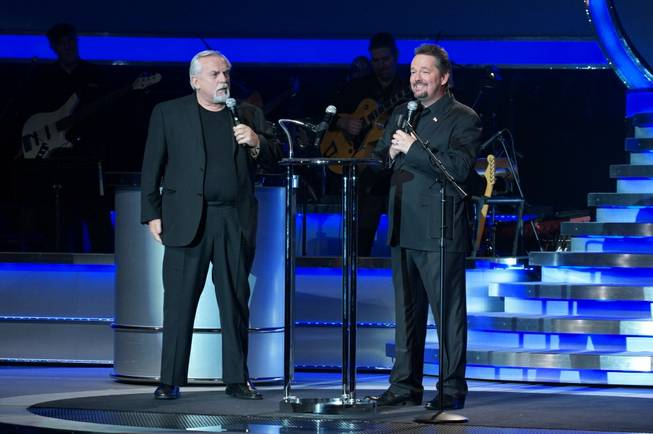 John Ratzenberger and Terry Fator at The Mirage on Monday, Jan. 28, 2013.