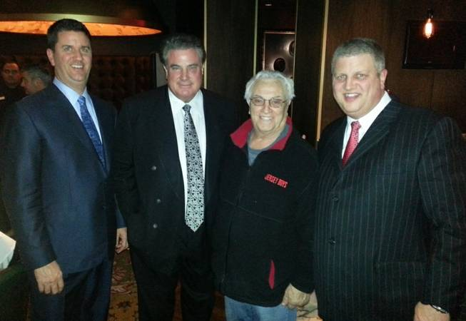 Tommy DeVito, second from right, at The D Hotel in Downtown Las Vegas.