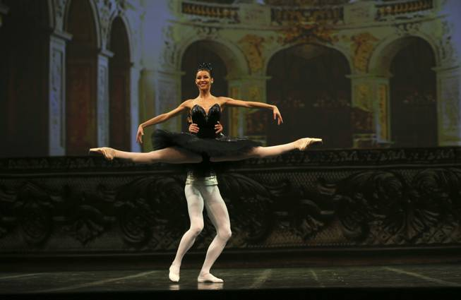 In this Thursday, Nov. 1, 2012 photo, dancers from Russian Bolshoi ballet perform during the Russian cultural festival in New Delhi, India. The festival, which will travel to Mumbai and Chennai, comprises of soloists from the Bolshoi, Marinsky and Mikhailovsky Theatres.