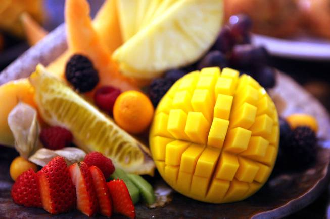 Fresh fruit, part of the breakfast menu at the new Nobu Restaurant at Caesars Palace in Las Vegas on Friday, February 1, 2013.