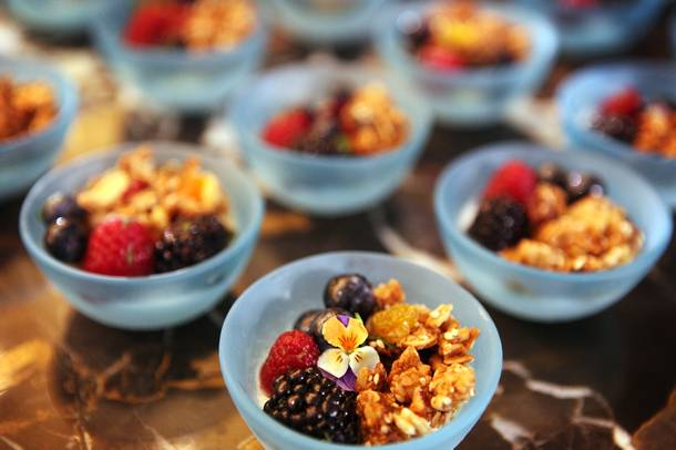 Granola that is part of the breakfast menu at the new Nobu Restaurant at Caesars Palace in Las Vegas on Friday, February 1, 2013.