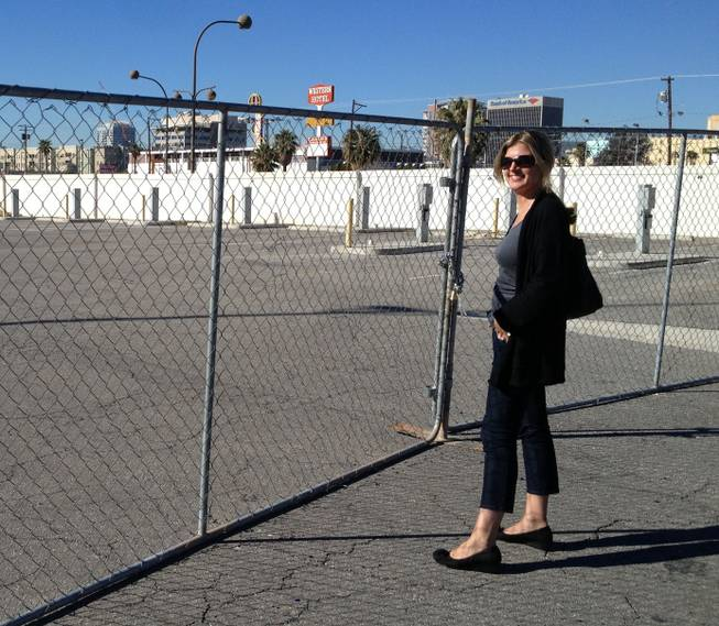 Kristiana Spaulding, general manager of Airstream 2 Go, an Airstream rental business, surveys the lot where the business is scheduled to open in mid-April.