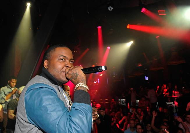 Sean Kingston celebrates his 23rd birthday at Chateau Nightclub in ...
