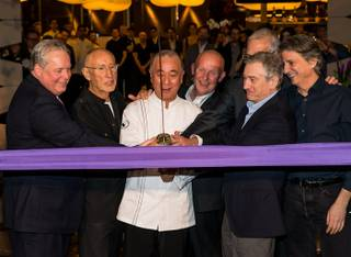 The Nobu Hotel and Restaurant ribbon-cutting opening with chef Nobu Matsuhisa and business partner and actor Robert De Niro in Caesars Palace on Saturday, Feb. 2, 2013.