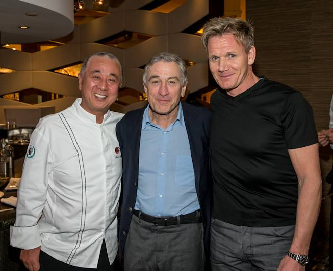 The Nobu Hotel and Restaurant ribbon-cutting opening with chef Nobu ...