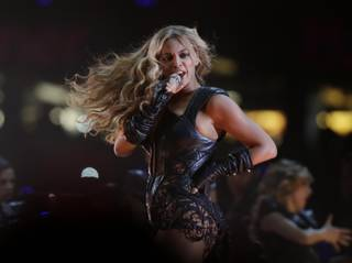 Beyonce performs during the Pepsi Super Bowl XLVII Halftime Show at Mercedes-Benz Superdome in New Orleans on Sunday, Feb. 3, 2013.
